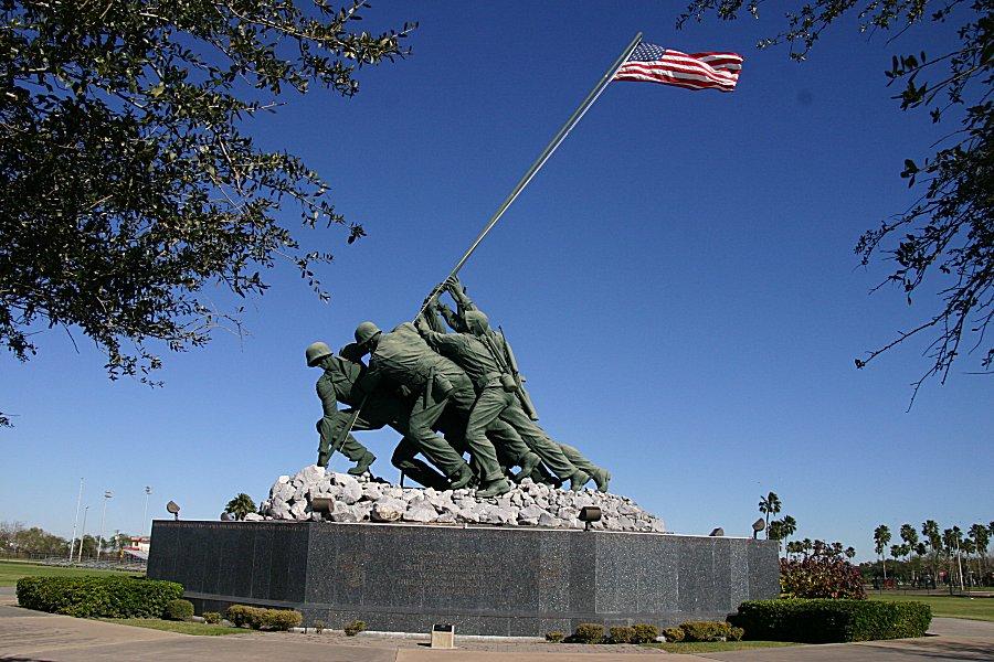 Iwo Jima Memorial, Marine Military Academy, Harlingen, Texas